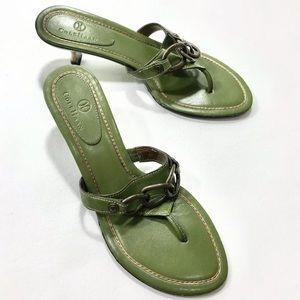 Cole Haan Kitten Heel Thong Sandals  Size 8.5 M